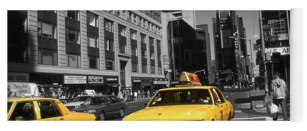 New York Yellow Taxi Cabs - Highlight Photo Yoga Mat