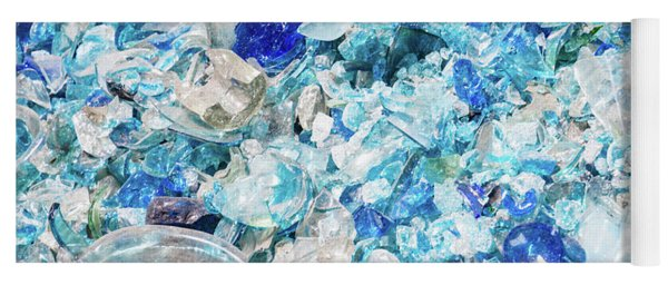 Broken Glass Blue Yoga Mat