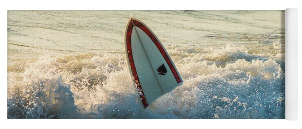 Broken Surfboard Delray Beach Florida Yoga Mat