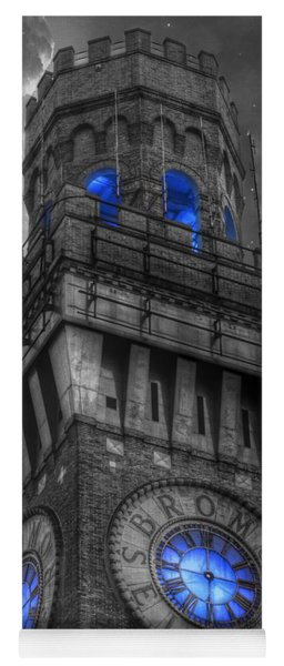Bromo Seltzer Tower Baltimore - Blue  Yoga Mat