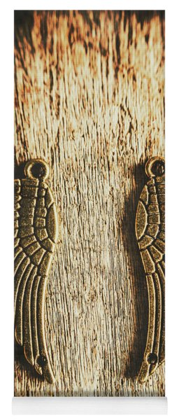 Bronze Angel Wings Yoga Mat