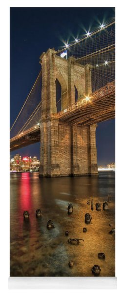 Brooklyn Bridge At Night Yoga Mat
