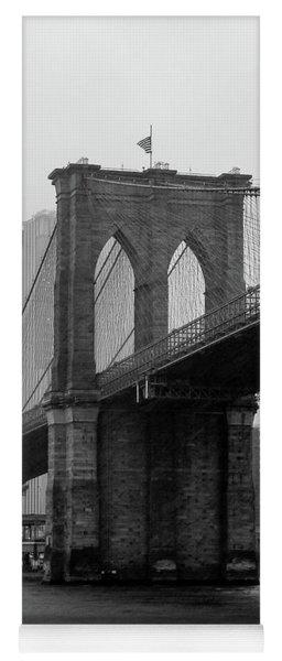 Brooklyn Bridge In A Storm Yoga Mat