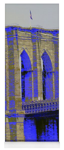 Brooklyn Bridge In Blue Yoga Mat