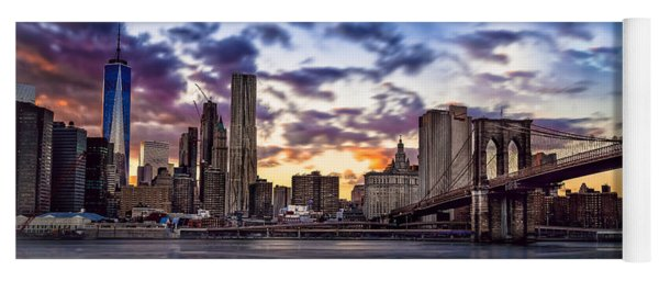 Brooklyn Bridge Manhattan Sunset Yoga Mat