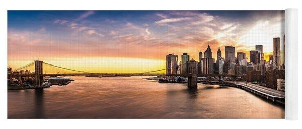 Brooklyn Bridge Panorama Yoga Mat