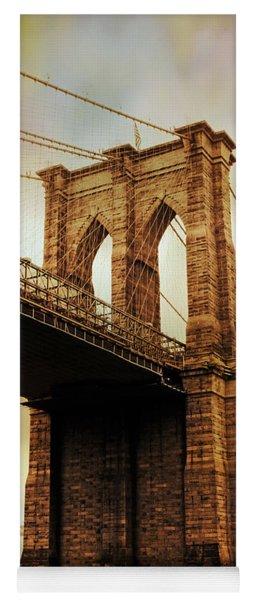 Brooklyn Bridge Perspective Yoga Mat