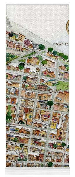 Brooklyn Heights Map Yoga Mat
