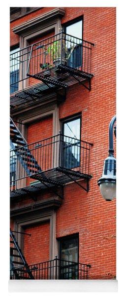 Brooklyn Heights Cobble Hill Typical Brick Facade - New York City Yoga Mat
