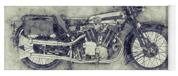 Brough Superior Ss100 - 1924 - Motorcycle Poster 1 - Automotive Art Yoga Mat