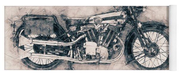 Brough Superior Ss100 - 1924 - Motorcycle Poster - Automotive Art Yoga Mat