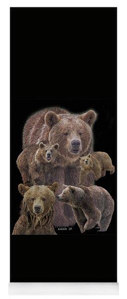 Brown Bears 8 Yoga Mat