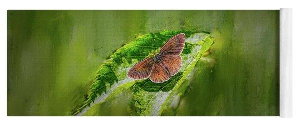 Brown Butterfly #h6 Yoga Mat