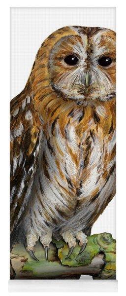 Brown Owl Or Eurasian Tawny Owl  Strix Aluco - Chouette Hulotte - Carabo Comun -  Nationalpark Eifel Yoga Mat