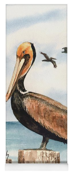 Brown Pelicans Yoga Mat