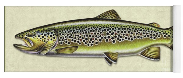 Brown Trout Id Yoga Mat