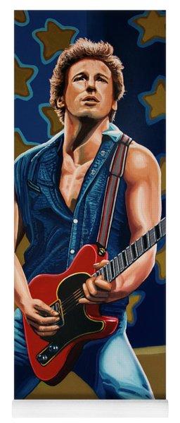 Bruce Springsteen The Boss Painting Yoga Mat