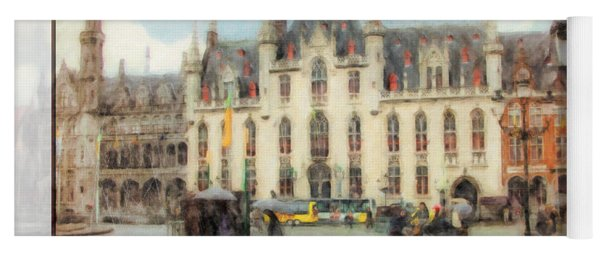 Yoga Mat featuring the painting Bruges, Belgium by Chris Armytage