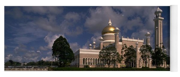 Yoga Mat featuring the photograph Brunei Mosque by Travel Pics