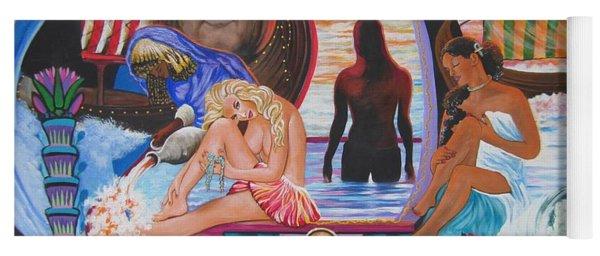 Blaa Kattproduksjoner     Two  Godessess Enjoying  The Nile Spa Yoga Mat