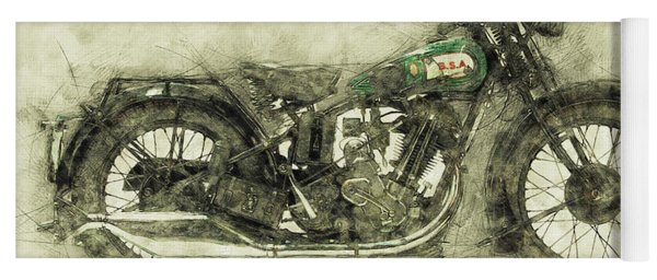 Bsa Sloper 1 - 1927 - Vintage Motorcycle Poster - Automotive Art Yoga Mat