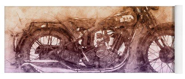 Bsa Sloper - 1927 - Vintage Motorcycle Poster 2 - Automotive Art Yoga Mat
