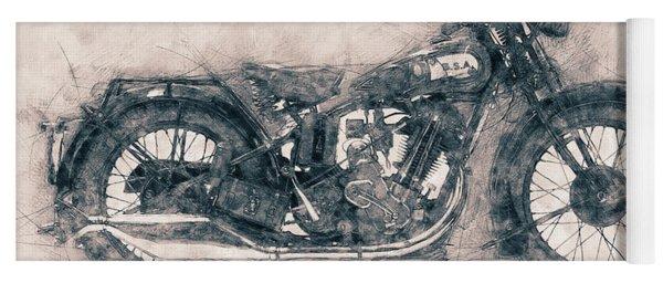 Bsa Sloper - 1927 - Vintage Motorcycle Poster - Automotive Art Yoga Mat