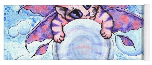 Bubble Fairy Kitten Yoga Mat