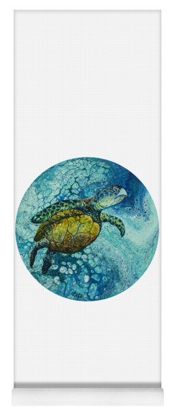 Yoga Mat featuring the painting Bubble Surfer  by Darice Machel McGuire
