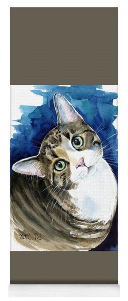 Bubbles - Tabby Cat Painting Yoga Mat