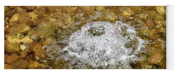 Bubbling Water In Rock Fountain Yoga Mat
