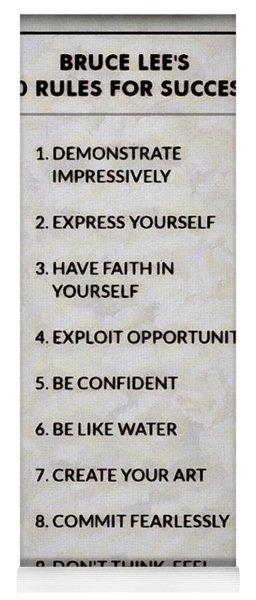 Buce Lee 10 Rules Of Success Yoga Mat