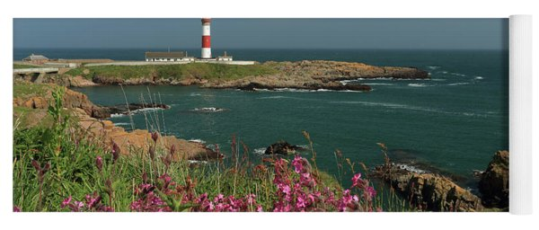 Buchan Ness Lighthouse And Spring Flowers Yoga Mat