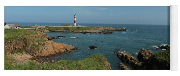 Buchan Ness Lighthouse And The North Sea Yoga Mat
