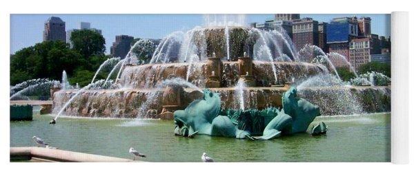 Buckingham Fountain Yoga Mat