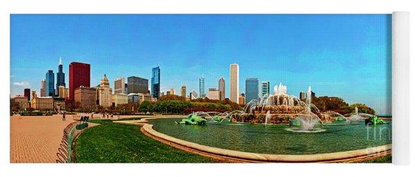 Buckingham Fountain Chicago Grant Park Yoga Mat
