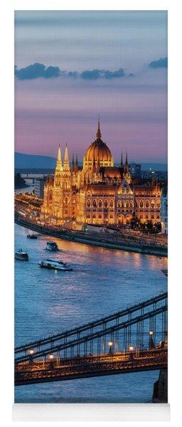 Budapest City At Dusk Yoga Mat