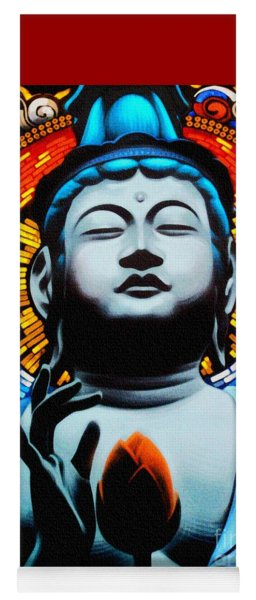 Buddha And The Flower Yoga Mat
