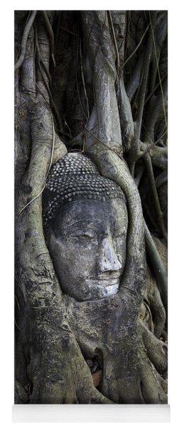 Buddha Head In Tree Yoga Mat