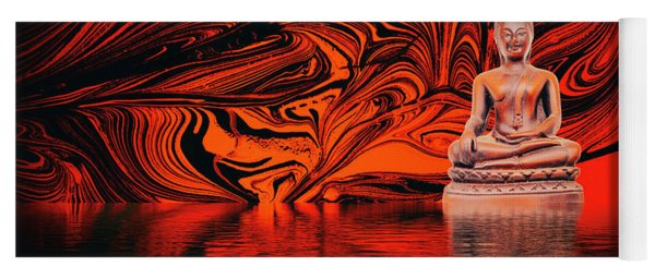 Buddha On A Lake Yoga Mat