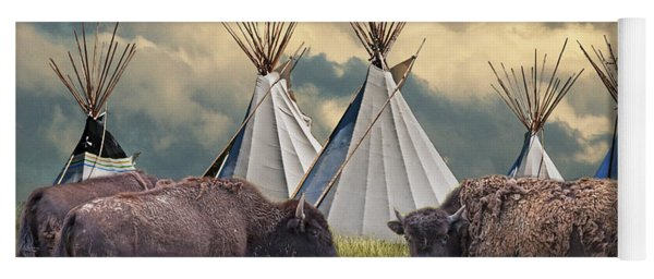 Buffalo Herd On The Reservation Yoga Mat