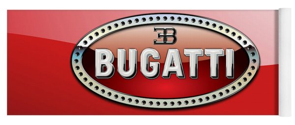Bugatti - 3 D Badge On Red Yoga Mat