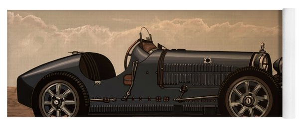 Bugatti Type 35 1924 Mixed Media Yoga Mat