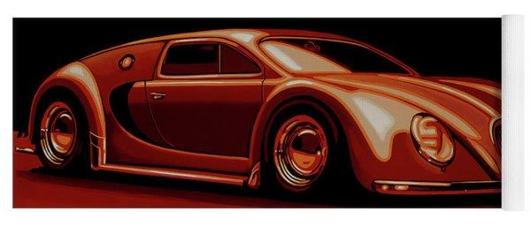 Bugatti Veyron 'beetgatti' 1945 Painting Yoga Mat