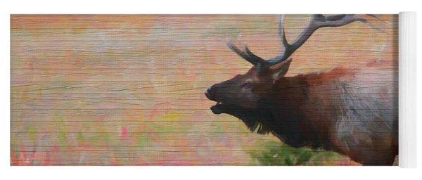Bugling Elk Wood Panel Yoga Mat