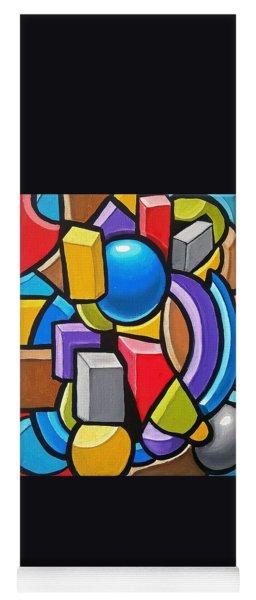Building Blocks- Abstract 3dpainting Yoga Mat