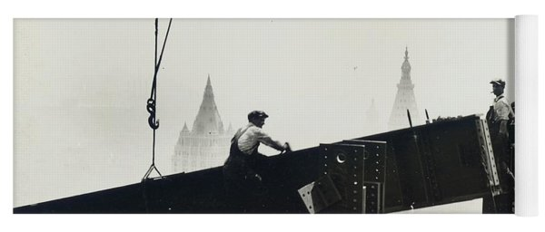 Building The Empire State Building Yoga Mat