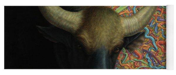 Bull In A Plastic Shop Yoga Mat