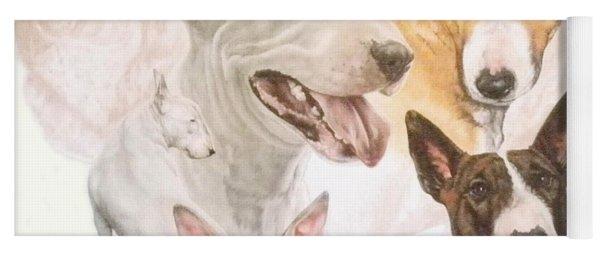 Bull Terrier Medley Yoga Mat