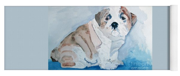 Bulldog Puppy Yoga Mat
